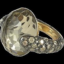 Pomellato Tango Collection Smokey Quartz and Brown Diamond Ring