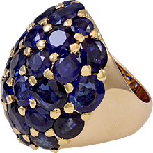Seaman Schepps Sapphire Gold Ring