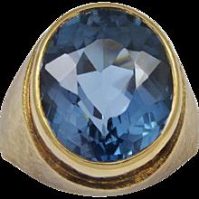 Bruno Guidi Oval Blue Topaz Gold Ring