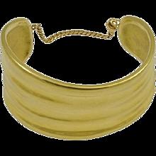Georg Jensen 18kt Gold Minus Cuff Bracelet