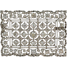 Buccellati Platinum and Diamond Brooch