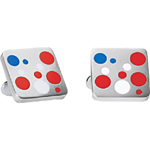 Georg Jensen Red, White & Blue Cufflinks