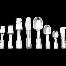 Georg Jensen Sterling Silver Eight-piece Flatware Service for Twelve in Old Danish Pattern