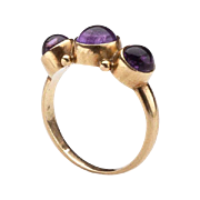 Georg Jensen Gold Ring No. 1003 with Amethyst