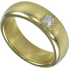 Tiffany & Co. Gold Band with Diamond