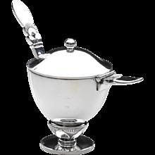Georg Jensen Cactus Mustard Pot & Spoon