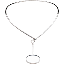 Georg Jensen Torun Necklace with Sterling Drop Pendant