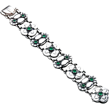 Georg Jensen bracelet No. 27 with Chrysophase