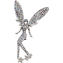 Butler & Wilson Rhinestone Fairy Brooch