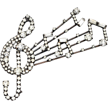 Music Sheet Brooch - Attributed to Butler & Wilson