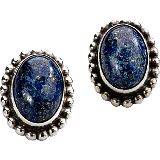 Georg Jensen Earrings No. 59 with Lapis