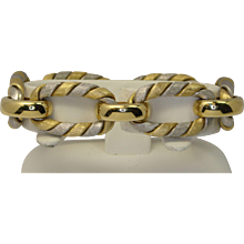 18k White & Yellow Gold Bracelet