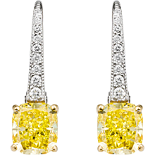 Graff Vivid Yellow Diamond Earrings