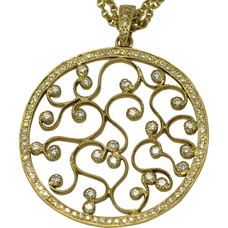 Diamond & 18k Yellow gold Pendant