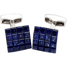 sapphire invisible cufflinks