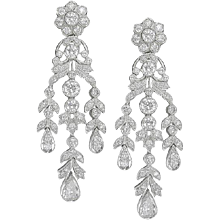 Round & Pear Shape Diamond Earrings