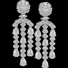 Pair of Pear Shape Diamond Earrings