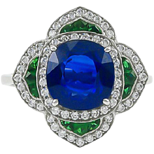 Sapphire & Emerald Ring