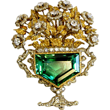 Tourmaline & Diamond Brooch from Buccelati