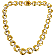 Diamond Door-Knocker Necklace