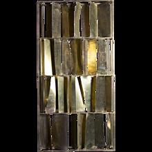 Flair Edition Brutalist Brass Sculptural Screen