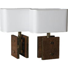 1970s Table Lamps in the Style of Karl Springer