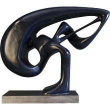 1960's French Blue Abstract Sculpture