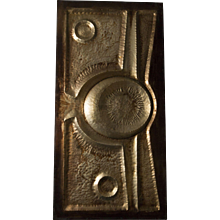 1960s Decorative Copper Wall Panel