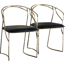 "Set of 8 ""Bamboo"" Bronze Sculptural Chairs"