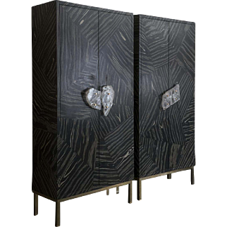 Flair Patchwork Collection Pair of Cabinets