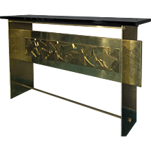 "Flair Edition ""Sharp"" Natural Brass Console"