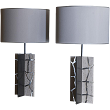 "Flair Edition ""Travertino"" Table Lamp"