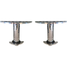 Pair of Consoles in Murano Mirrors