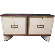 French Sideboard in Parchment and Brass
