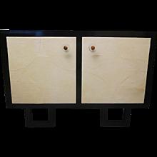 Minimalist Art Deco Demilune Sideboard, with Two Big Eyes