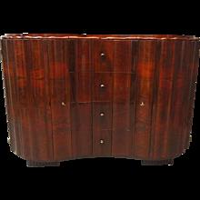 Austrian Art Deco Scalloped Sideboard