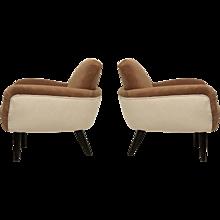 Pair of Art Deco Armchairs, Italy 1940
