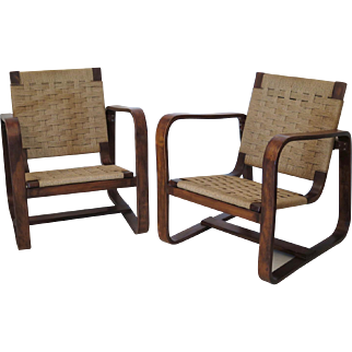 Armchairs by Giuseppe Pagano Pogatschnig e Gino Maggioni, 1939-1941, Italy