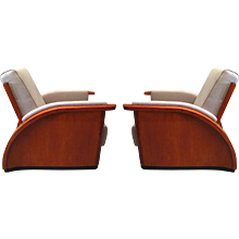 Pair of French Art Deco Club Chairs