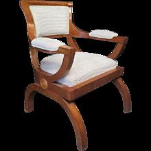 Sculptural Art Deco Arm Chair