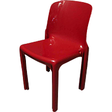 Single Chair in Selene Style by Vico Magistretti