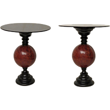 Couple of Art Deco Side Table, Italy 1940s