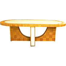 Art Deco Zebra Wood Conference or Dining Table