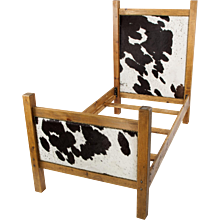 Authentic Cowhide Twin Bed