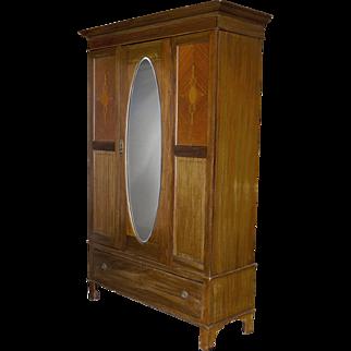 Edwardian Style Wardrobe Cabinet