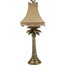 Gold Palm Tree Table Lamp