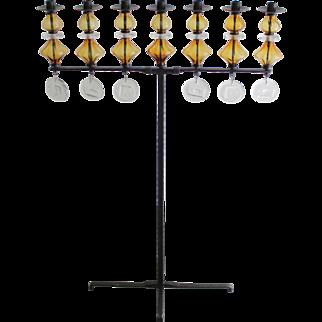 Large Seven-Arm Candleholder by Erik Hoglund, Sweden