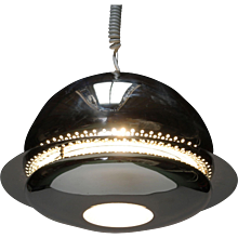 Chrome Nictea Pendant by Afra and Tobia Scarpa