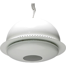 Pair of White Nictea Pendants by Afra and Tobia Scarpa