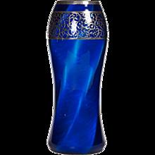 Loetz, Melusin Vase applied Silver Overlay ca 1907